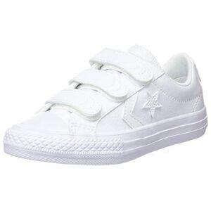 Converse Lifestyle Star Player Ev 3v Ox Synthetic, Chaussures de Fitness Garon Unisex Kinder, Blanc (White/White/White 100), 27 EU - Publicité