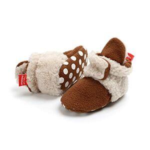 EDOTON Bottes Bande pour Bébé Unisex, Garder au Chaud Doux Sole Bottes de Neige Berceau Chaussures Enfant Bottes Adapté pour 0-18 Mois Bébé (0-6 Mois, Café, Taille de l'étiquette 11) - Publicité