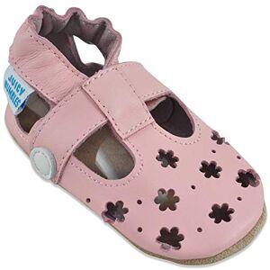 Juicy Bumbles Sandales Fille Chaussure Bebe Fille Chausson Bebe Cuir Souple Chaussures Enfants Filles Sandale Petites Fleurs Roses 0-6 Mois - Publicité