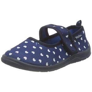 Playshoes Chaussons Cardiaque, Pantoufles Garon Fille, Bleu (Marine 11), 18/19 EU - Publicité