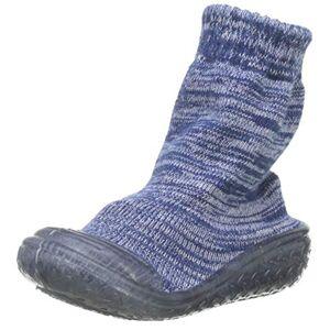 Playshoes Pantoufle Chaussettes Antidérapantes, Chaussons Tricotés Garon Unisex Kinder, Bleu (Marine 11), 18/19 EU - Publicité