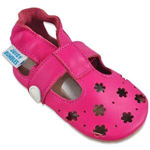 Juicy Bumbles Sandales Fille Chaussure Bebe Fille Chausson Bebe Cuir Souple Chaussures Enfants Filles Sandale Petites Fleurs Fuchsia 6-12 Mois - Publicité