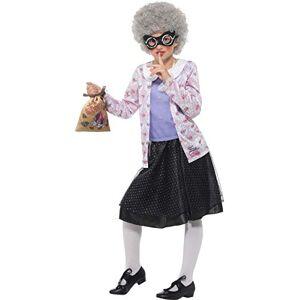 Smiffy's Smiffys Déguisement Enfant David Walliams Deluxe Costume de Gangster Granny, Taille M - Publicité