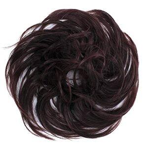 CAISHA PRETTYSHOP Postiche Choucho Avoir Les Cheveux Relevés Volumineux Léger Ondulé Chignon Vin Rouge Mix G23B - Publicité