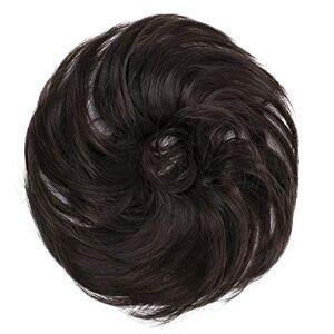 CAISHA PRETTYSHOP Postiche Choucho Avoir Les Cheveux Relevés Volumineux Léger Ondulé Chignon Marron G5B - Publicité