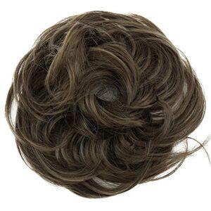 CAISHA PRETTYSHOP Postiche Choucho Avoir Les Cheveux Relevés Volumineux Léger Ondulé Chignon Brun Cendré G10B - Publicité