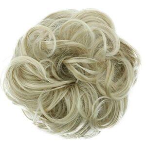 CAISHA PRETTYSHOP Postiche Choucho Avoir Les Cheveux Relevés Avoir Les Cheveux Relevés Volumineux Bouclé Chignon Blond Clair G14A - Publicité