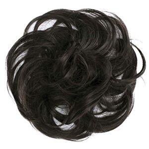 CAISHA PRETTYSHOP Postiche Choucho Avoir Les Cheveux Relevés Volumineux Léger Ondulé Chignon Marron Foncé G3B - Publicité