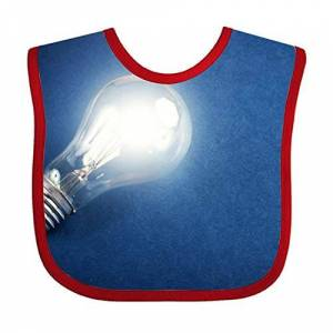 FPcustom Lighting Lamp Bulb Baby Bib Toddler Absorbent Feeding Scarf Drool Teething - Publicité