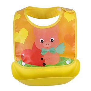 properLI Bavoirs pour bébé,  Serviette anti-salissure salive lavable imperméable, Imprimé de dessin animé, devant en coton (L) - Publicité