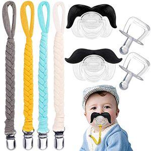 BabyCareV Attache-sucette avec moustache jouet de dentition sucette attache-anneau de dentition sucette universelle soothie - Publicité
