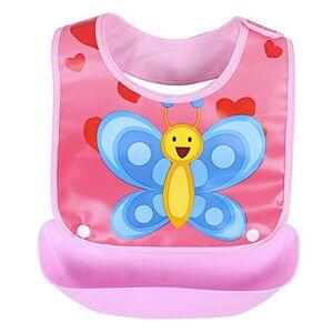 properLI Bavoirs pour bébé,  Serviette anti-salissure salive lavable imperméable, Imprimé de dessin animé, devant en coton (I) - Publicité