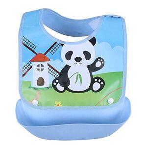 properLI Bavoirs pour bébé,  Serviette anti-salissure salive lavable imperméable, Imprimé de dessin animé, devant en coton (P) - Publicité