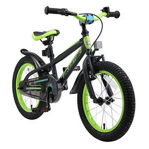 BIKESTAR Vélo Enfant pour Garcons et Filles de 4-5 Ans   Bicyclette Enfant 16 Pouces Mountainbike avec Freins   Noir & Vert - Publicité