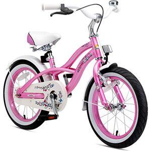 BIKESTAR Vélo Enfant pour Garcons et Filles de 4-5 Ans   Bicyclette Enfant 16 Pouces Cruiser avec Freins   Rose - Publicité