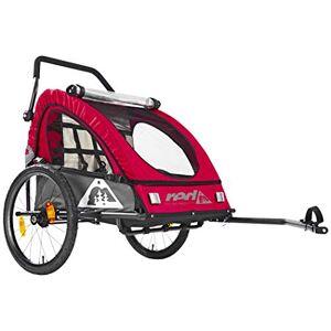 red CYCLING PRODUCTS Pro Kids BikeTrailer Remorque Enfant, Red/Grey - Publicité