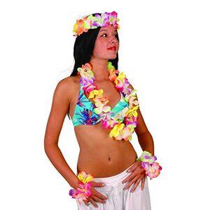 Farfouil en Fte Collier fleur hawaenne mis coloré - Publicité