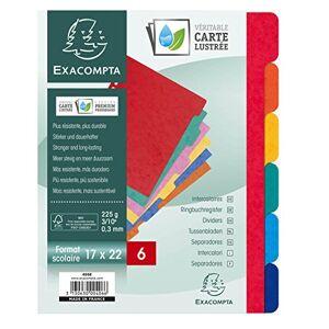 EXACOMPTA 406E Intercalaire Carte Lustrée 17x22 6 Positions - Publicité