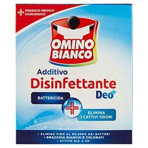 Omino Bianco Bonhomme BlancAdditif désinfectant, bactéricide poudre et virucide pour linge450g - Publicité