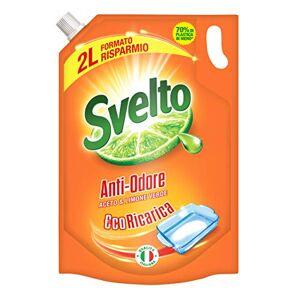 Svelto Lessive pour vaisselle, anti-odeurs, Eco recharge2000ml - Publicité