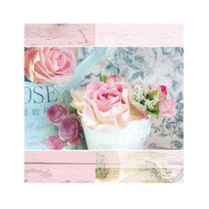 Creative 20 Serviettes en papier fleurs pastel 33 x 33 cm - Publicité