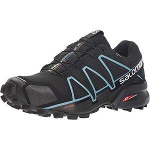 SALOMON Speedcross 4 GTX Chaussures De Trail, Femme, Noir (Black/Black/Metallic Bubble Blue), 43 1/3 EU - Publicité