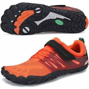 SAGUARO Chaussure Minimaliste Homme Femme de Trail Chaussure Plage de Marche Randonne Rocher Canyoning Running Chaussures Courses Barefoot Aquashoes(058 Orange, 43 EU) - Publicité