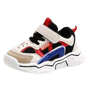 DAY8 Chaussures DAY8 Basket Fille Montante Scratch Mode Automne Chaussure Garcon Bebe Premier Pas Hiver Basket Enfants Garon Sport Running Sneakers Fille Antiderapantes Mesh Pas Cher Printemps (Noir, 23 EU) - Publicité