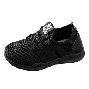 DAY8 Chaussures DAY8 Basket Fille Pas Cher Mode Basket Enfants Garon Sport Running Chaussure Garcon Lacet Automne Mesh Tricot Sneakers Fille Printemps Chaussure de Course Fille Caoutchouc (Noir, 28 EU) - Publicité