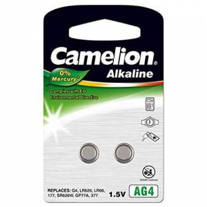 Camelion lot de piles bouton aG4, alcaline sous blister 1,5 v - Publicité