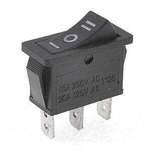 TOOGOO(R) Interrupteur a bascule Composant logiciel enfichable de AC15A/250V 20 a/125 v 3 Pin SPDT ON-OFF-ON 3 Position interrupteur a bascule - Publicité