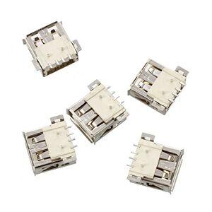 TOOGOO Lot de 5 Blinde USB A 4 broches femelle 180 SMD SMT prise Jack a souder - Publicité