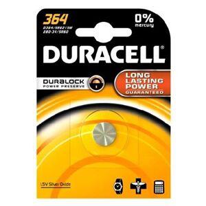Duracell 364 / AG1, SR621, LR621 etc. 1.5 Volt Silver Oxide Button Cell - Publicité