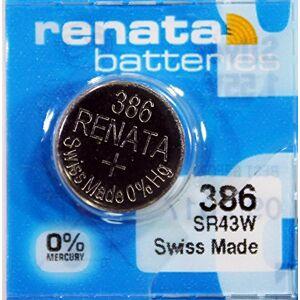 Renata / Swatch Group Renata Pile bouton oxyde argent 386 RENATA 1.55V 130mAh Blister(s) x 1 - Publicité
