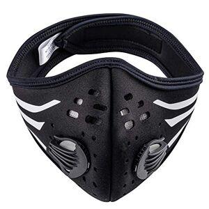 MFAZ Morefaz Ltd Masque-Anti-poussire Formation Anti-Smog Masque Protecteur Protection Running Contre la poussire Masques Vélo Filtre de Carbone (Black White Stripes) - Publicité