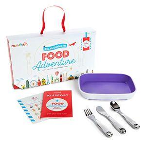 Munchkin Coffret Repas Food Adventure Splash, Violet - Publicité