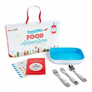 Munchkin Coffret Repas Food Adventure Splash, Bleu - Publicité