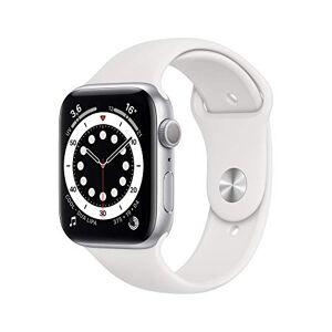 Apple Watch Series6 (GPS, 44 mm) Botier en aluminium argent, BraceletSport blanc - Publicité