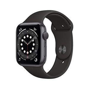 Apple Watch Series6 (GPS, 44 mm) Botier en aluminium grissidéral, BraceletSport noir - Publicité