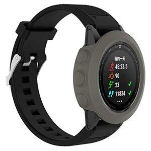 N/B WWTTE QW Montre Smart Watch Protection en Silicone Cas, hte Non Inclus for Garmin Fenix 5 (Blanc) ré (Color : Grey) - Publicité