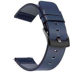ZAJ Montre en Cuir StrapSport Cuir Bracelets Montres for Hommes Bracelets Montres for Femmes Smartwatch Remplacement (Band Color : Black Blue) - Publicité