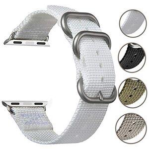 ANITA Bracelet de Rechange en Nylon pour Apple Watch 38 mm 40 mm, tissé Doux NATO Bracelet de Remplacement avec Boucle en métal pour Apple Watch Series 4 3 2 1 Sport Noir - Publicité