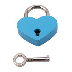 VWH Cadenas de Forme de Coeur Serrure Plate d'amour de Coeur avec la Clé pour Le Cadeau de Valentine Journal Valise Bagage (Bleu) - Publicité