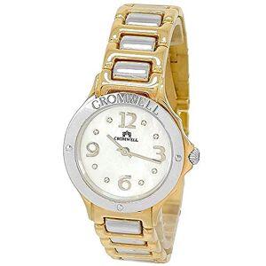 CROMWELL Montre 18k bicolor or Cromwell femme briller des diamants brillants indicateurs sphre perle - Publicité