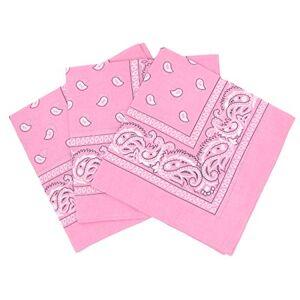 Laciteinterdite Lot de 3 bandanas paisley rose Foulard coton motif cachemire vendu par 3 taille unique - Publicité