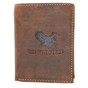 FLW-HL Natural forte portefeuille en cuir véritable The wild force avec un aigle - Publicité