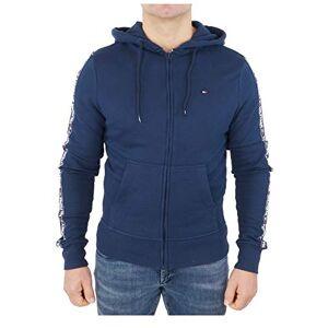 Tommy Hilfiger UM0UM00708 Hoody Ls Hwk Veste à capuche Homme Bleu (Navy Blazer 416) Taille: M - Publicité