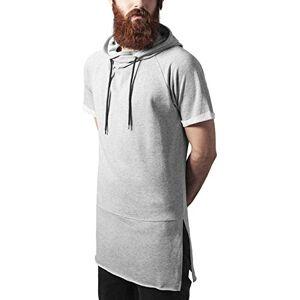 Urban Classics Shortsleeve Long Raglan Hoody Hoodie Homme, Gris (grey 111), Medium