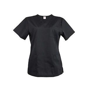 JONATHAN UNIFORM Blouse Noir Femme Uniforme de Travail 3 Poches pour Esthéticiennes Serveuses Cuisinières Nounous (Noir, XL) - Publicité