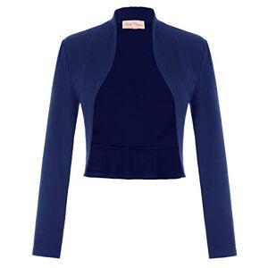 Belle Poque Bolero Bleu Marine Femme Vintage, à Manches Longues Medium (788-4) - Publicité